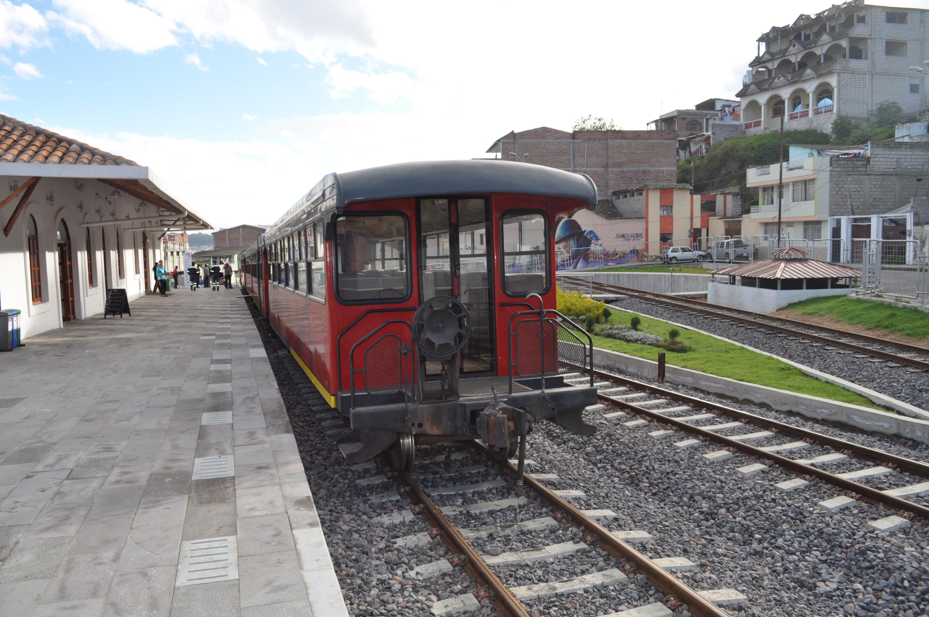 Estación del tren en Otavalo